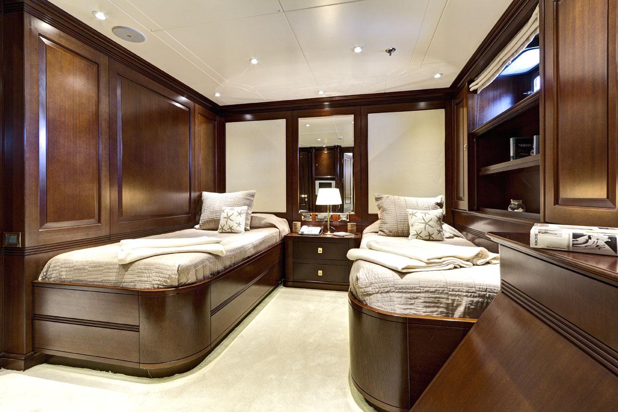 m/y azteca ii yacht for charter twin cabin