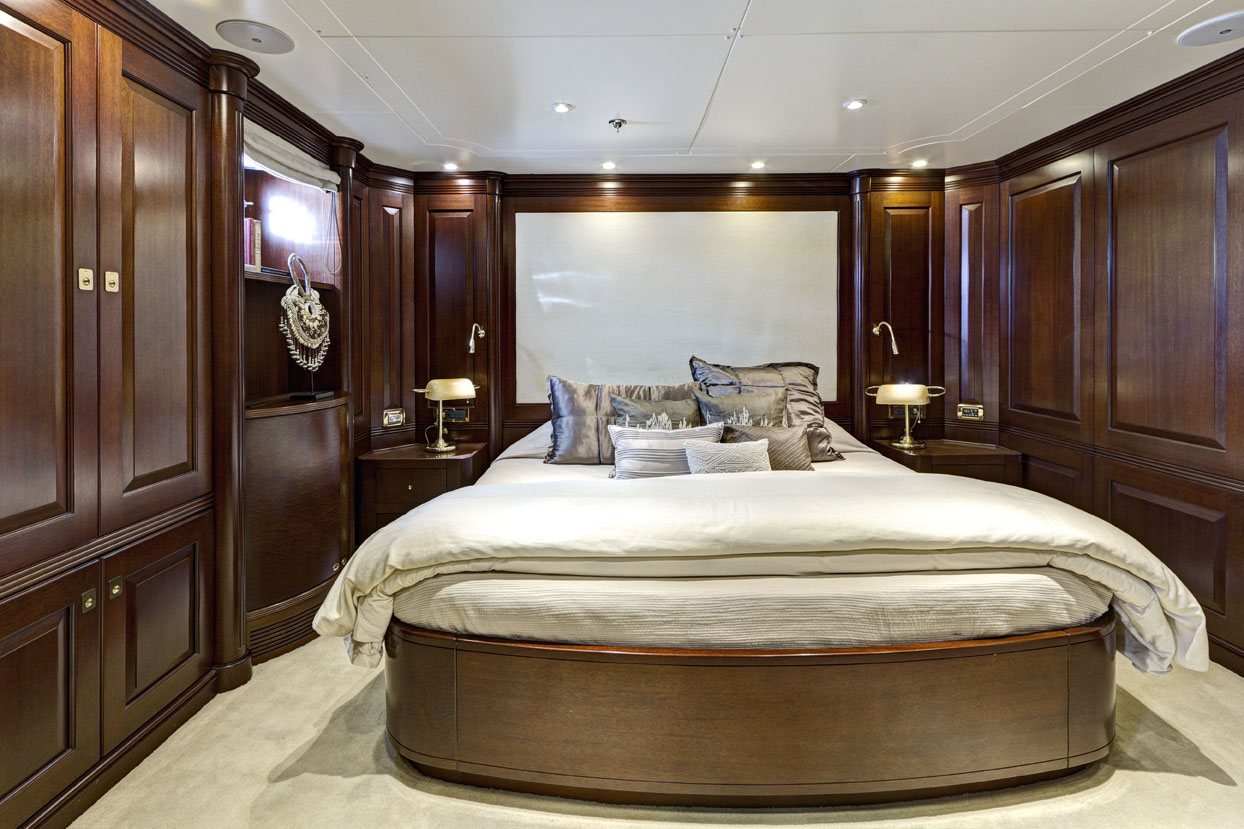 m/y azteca ii yacht for charter satin pillows