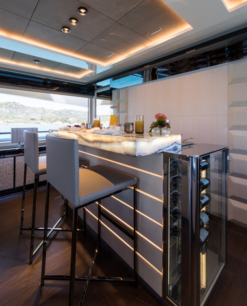 M/Y HANAA yacht for charter kitchen