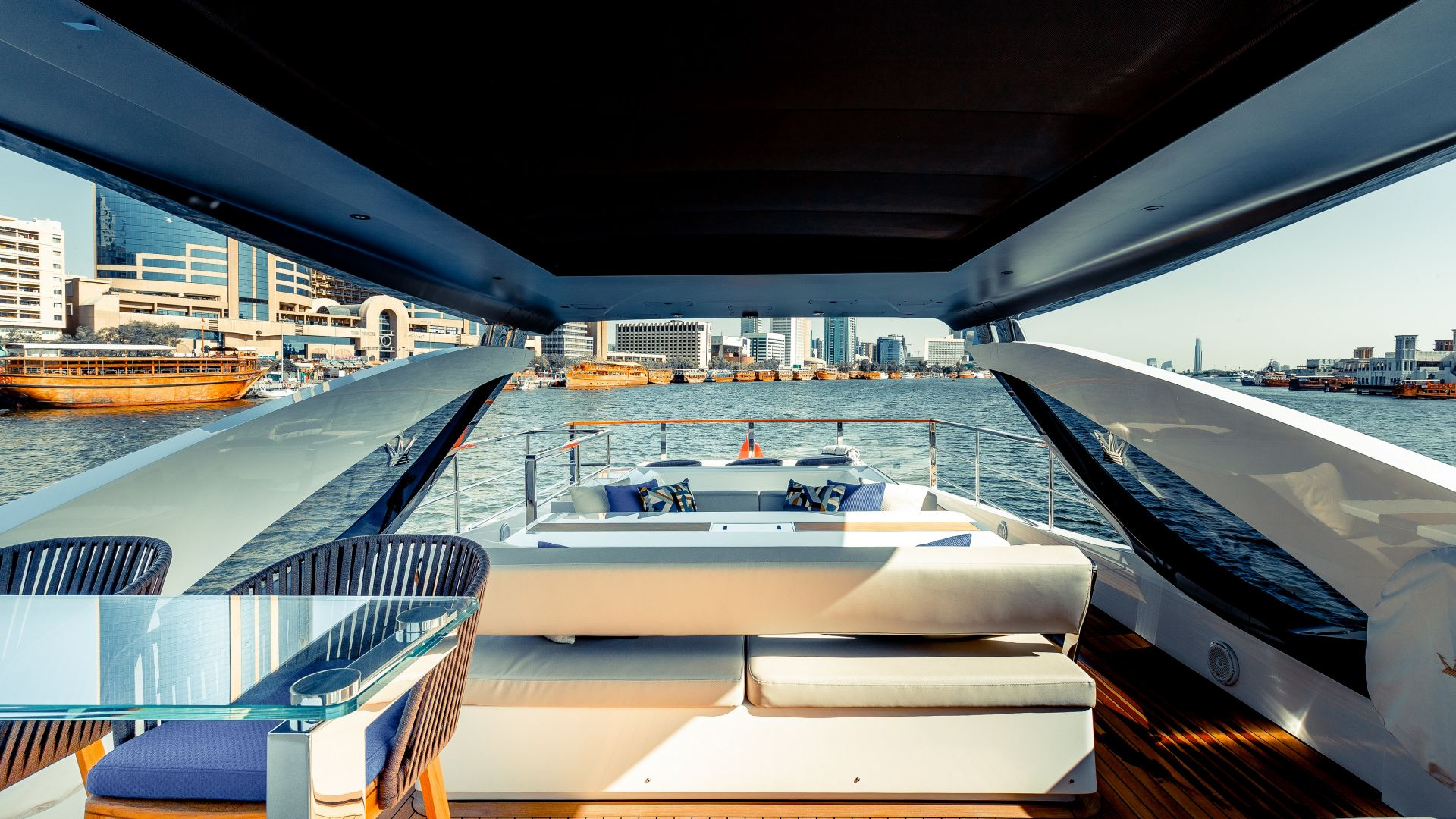 M/Y HANAA yacht for charter back deck