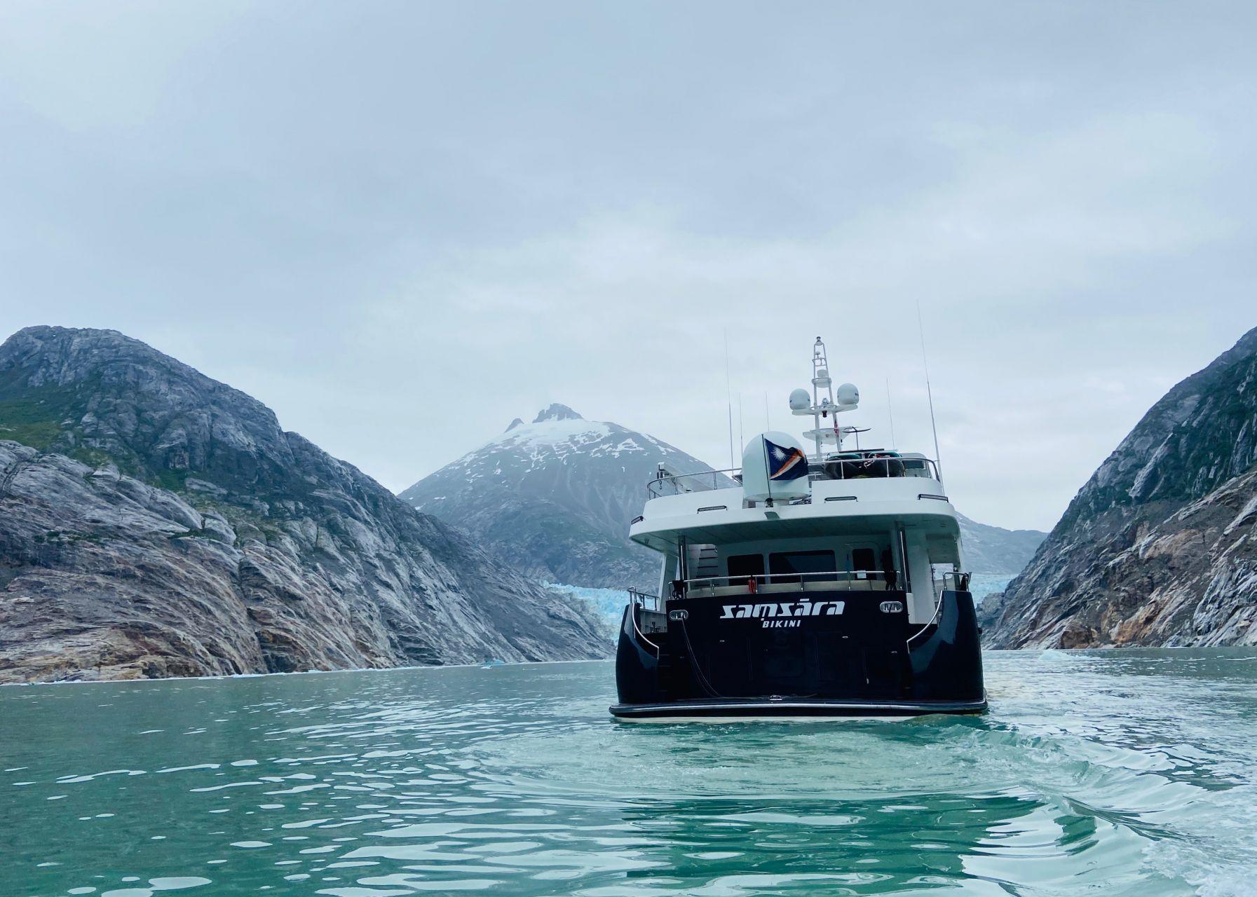 m/y samsara yacht for charter back deck