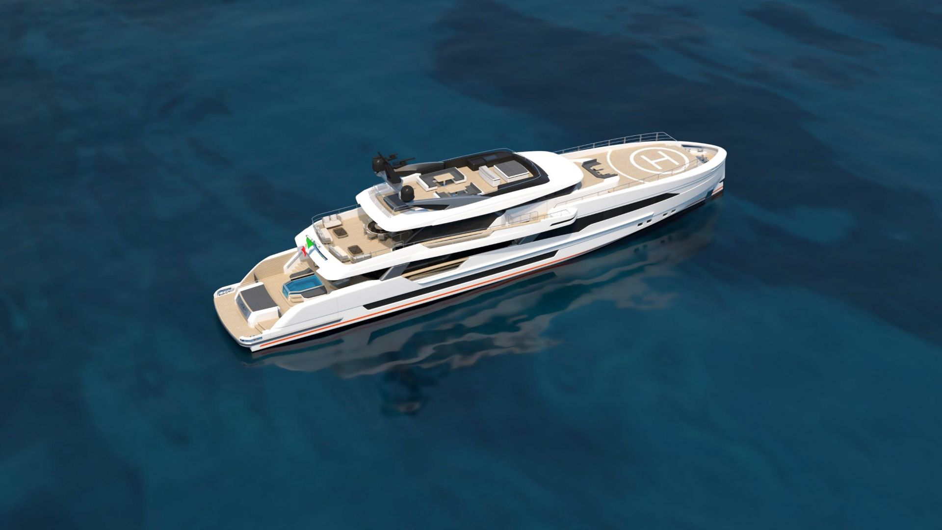 M/Y WIDER 170 yacht for sale rear view