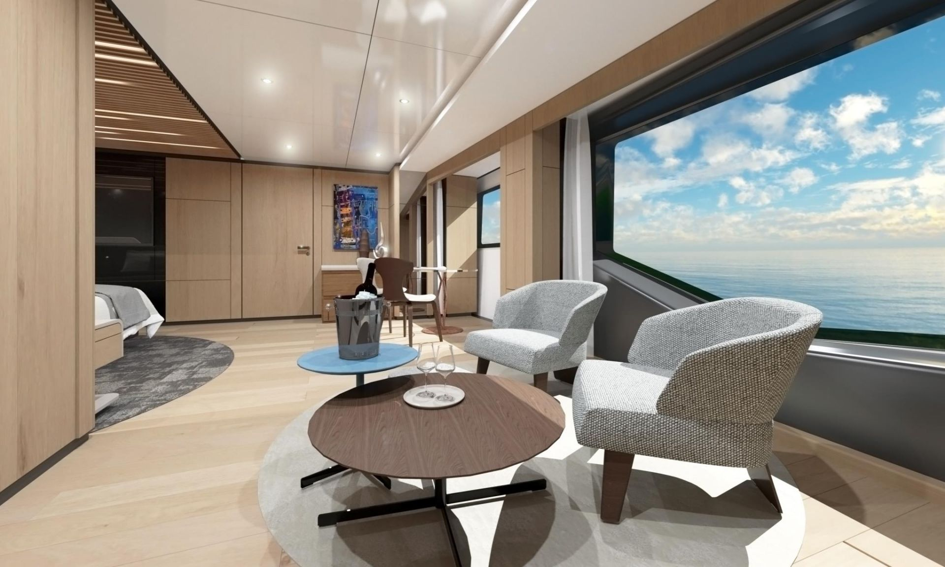M/Y WIDER 170 yacht for sale bedroom seating