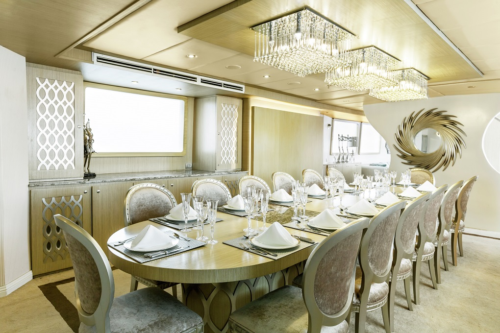 M/Y Stella Maris yacht for charter dining area