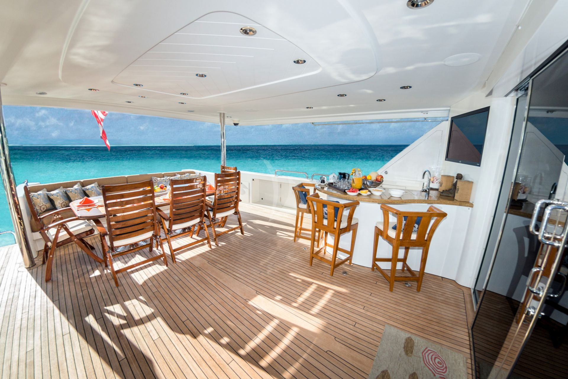 Deck aboard M/Y WILD KINGDOM yacht for charter