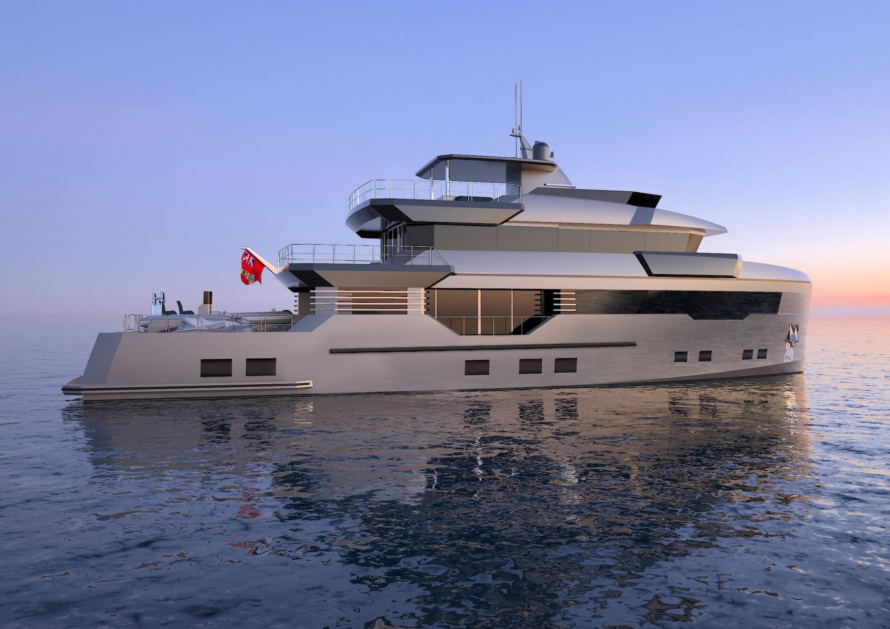 m/y pacifico 32 yacht for sale sideview