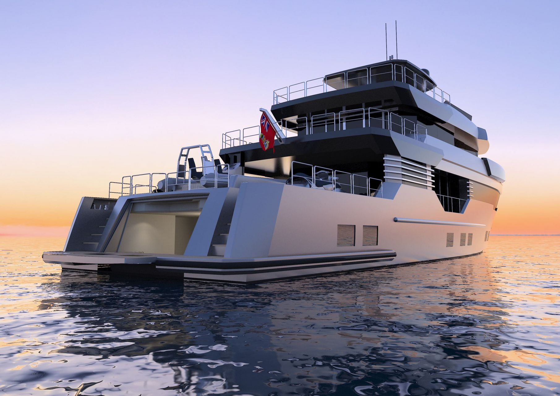 m/y pacifico 32 yacht for sale rear view