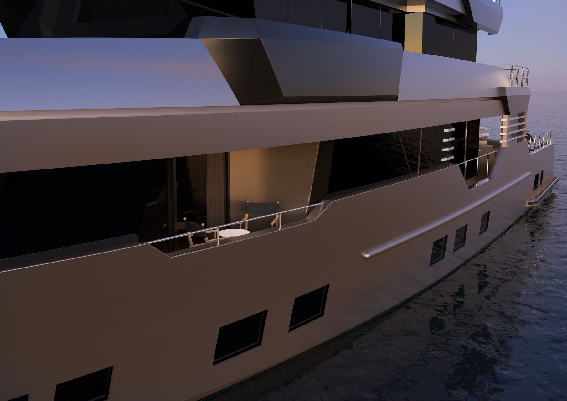 m/y pacifico 32 yacht for sale side deck lines
