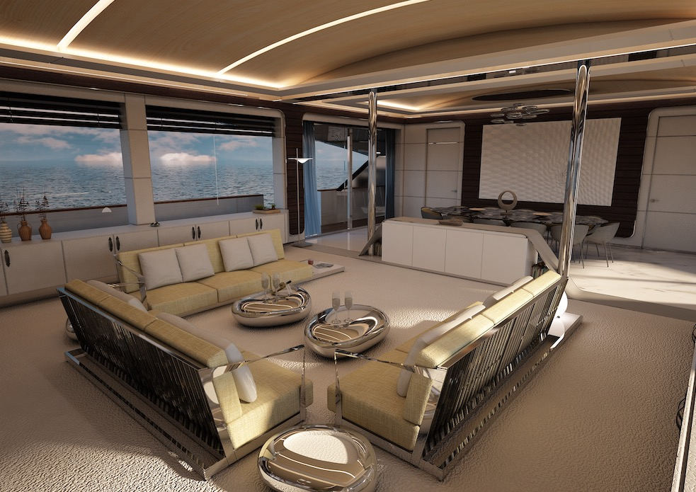 m/y pacifico 32 yacht for sale lounge