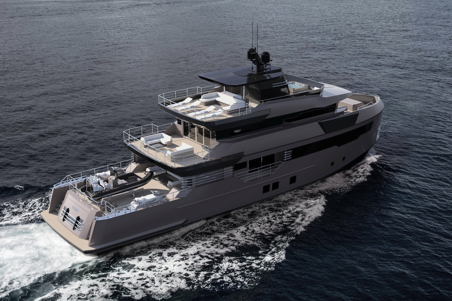 m/y pacifico 32 yacht for sale aerial view