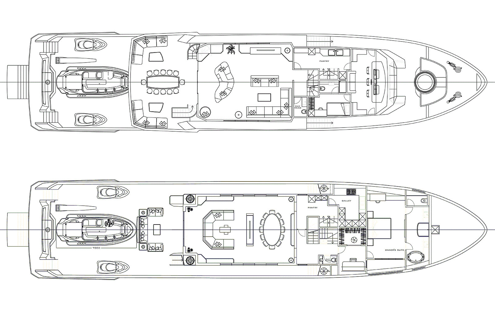Deck Plan of M/Y PACIFICO 42 New Build Yacht for Sale
