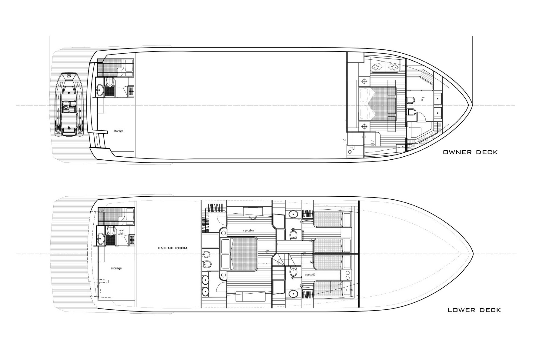 Deck Plan of M/Y Fast Cruise 22 New Build Yacht for Sale