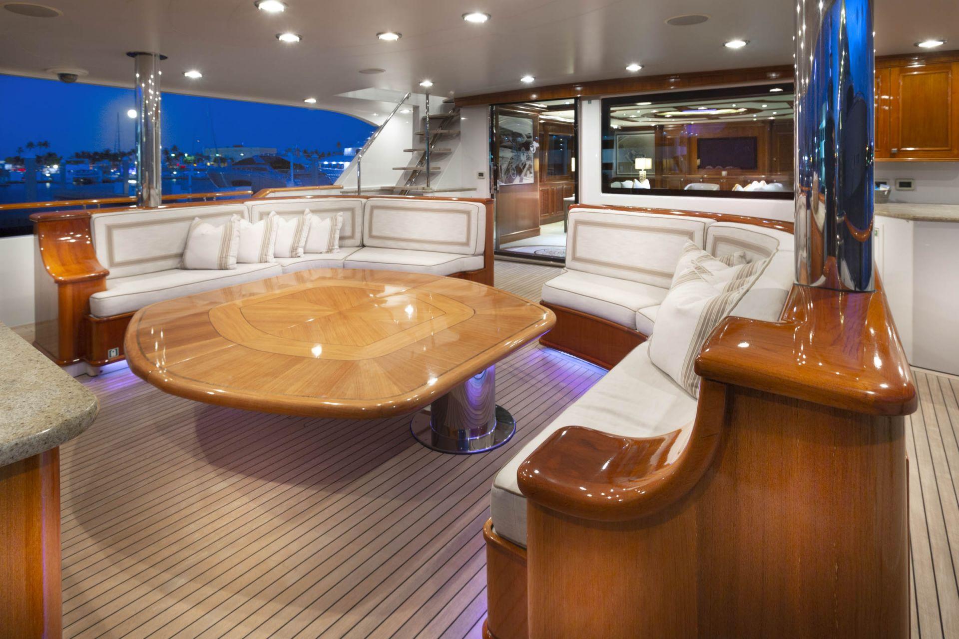M/Y FAR FROM IT Yacht Aft Deck
