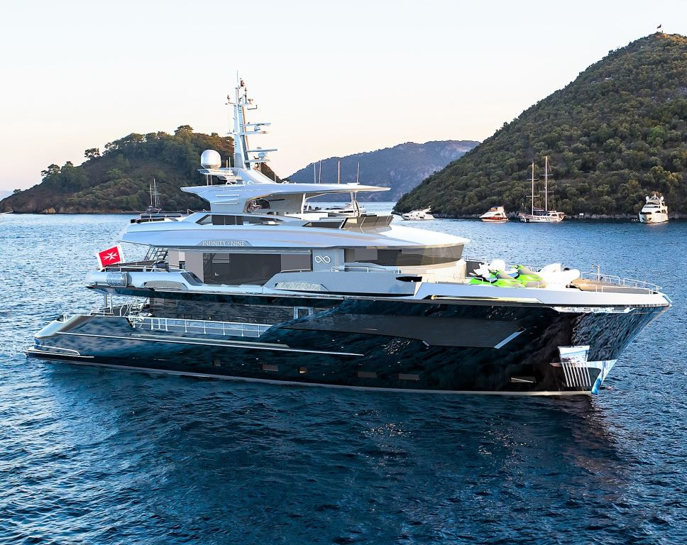 Aerial picture of M/Y INFINITY NINE yacht for charter