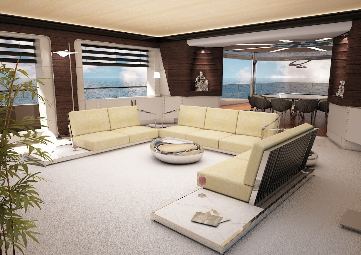 Interior Rendering of M/Y Fast Cruise 22 New Build Yacht for Sale
