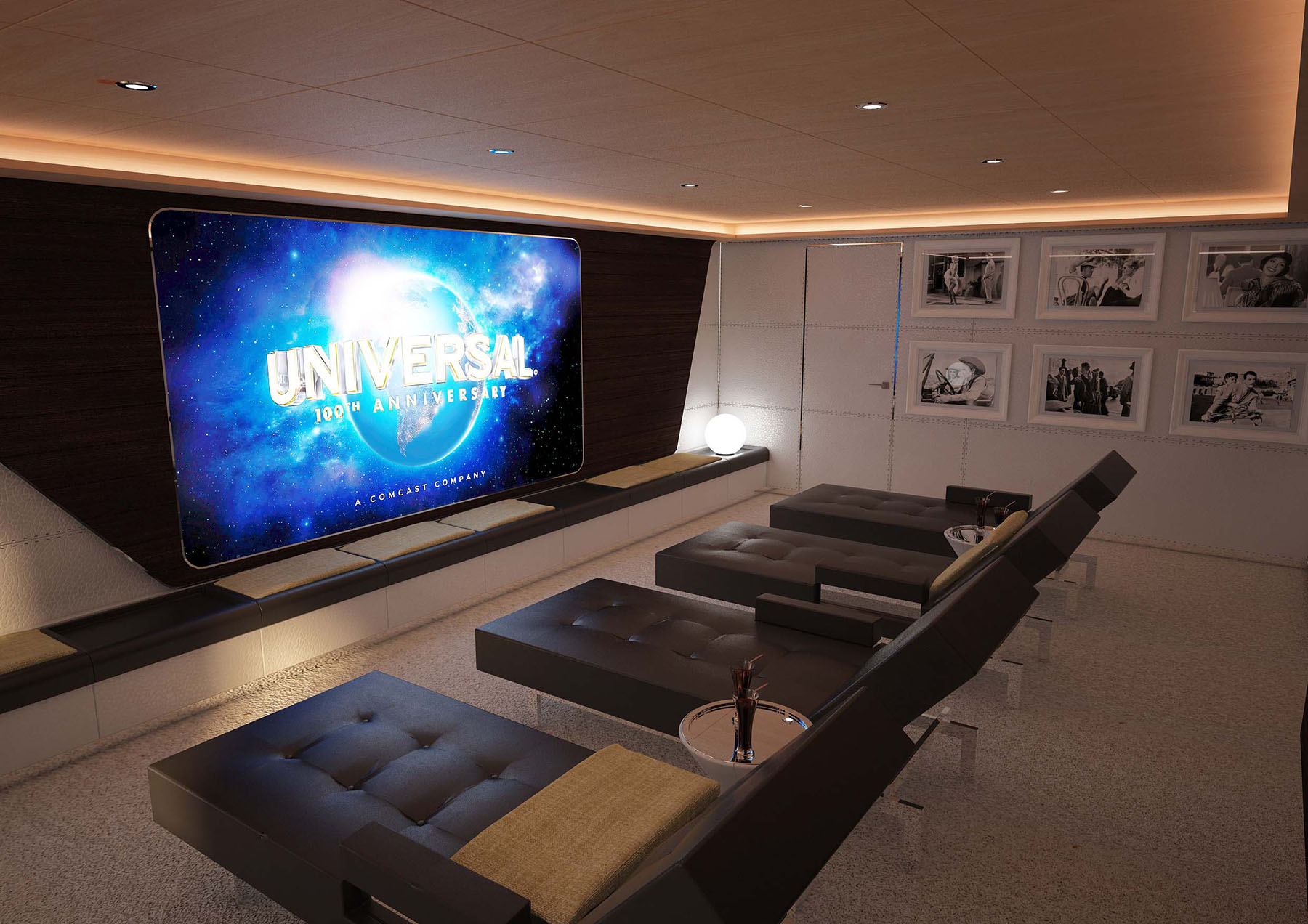 Cinema room aboard M/Y PACIFICO 35 yacht for sale