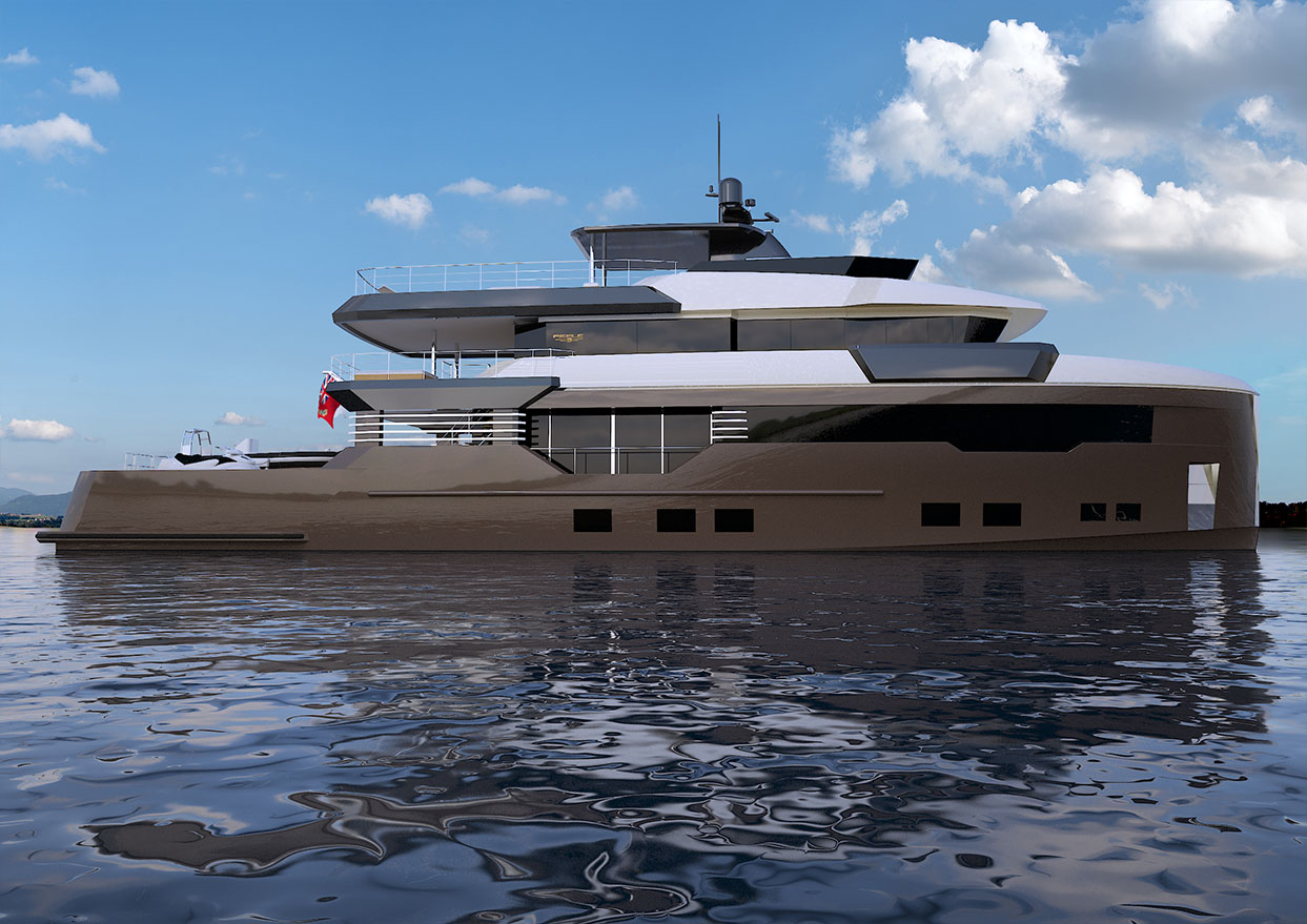 Profile view of M/Y PACIFICO 35 yacht for sale