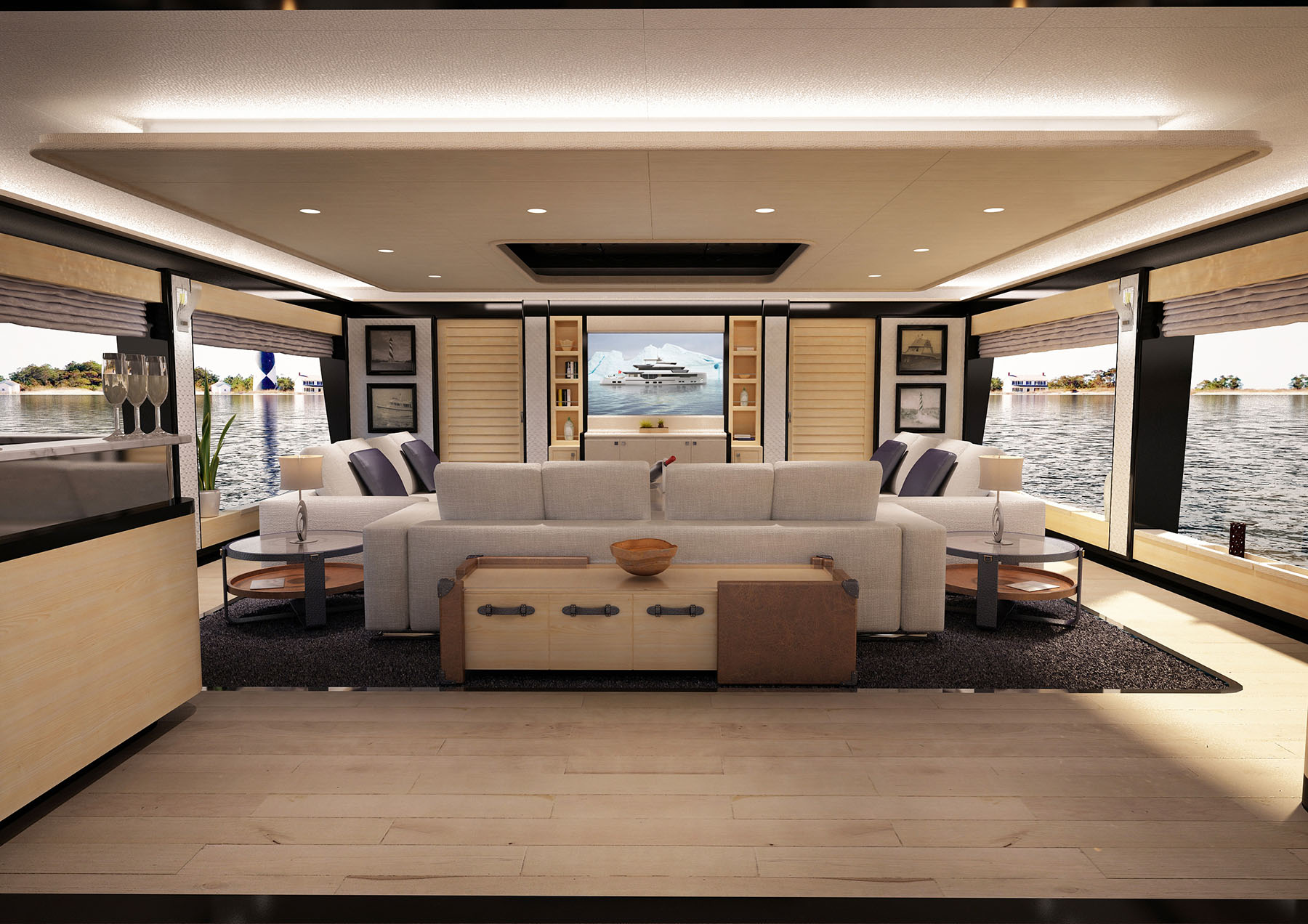 Main saloon aboard M/Y PACIFICO 35 yacht for sale