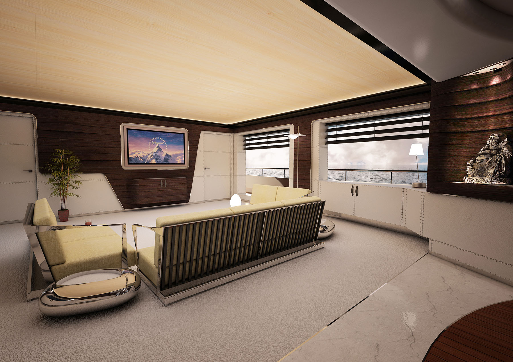 Master stateroom of M/Y PACIFICO 35 yacht for sale