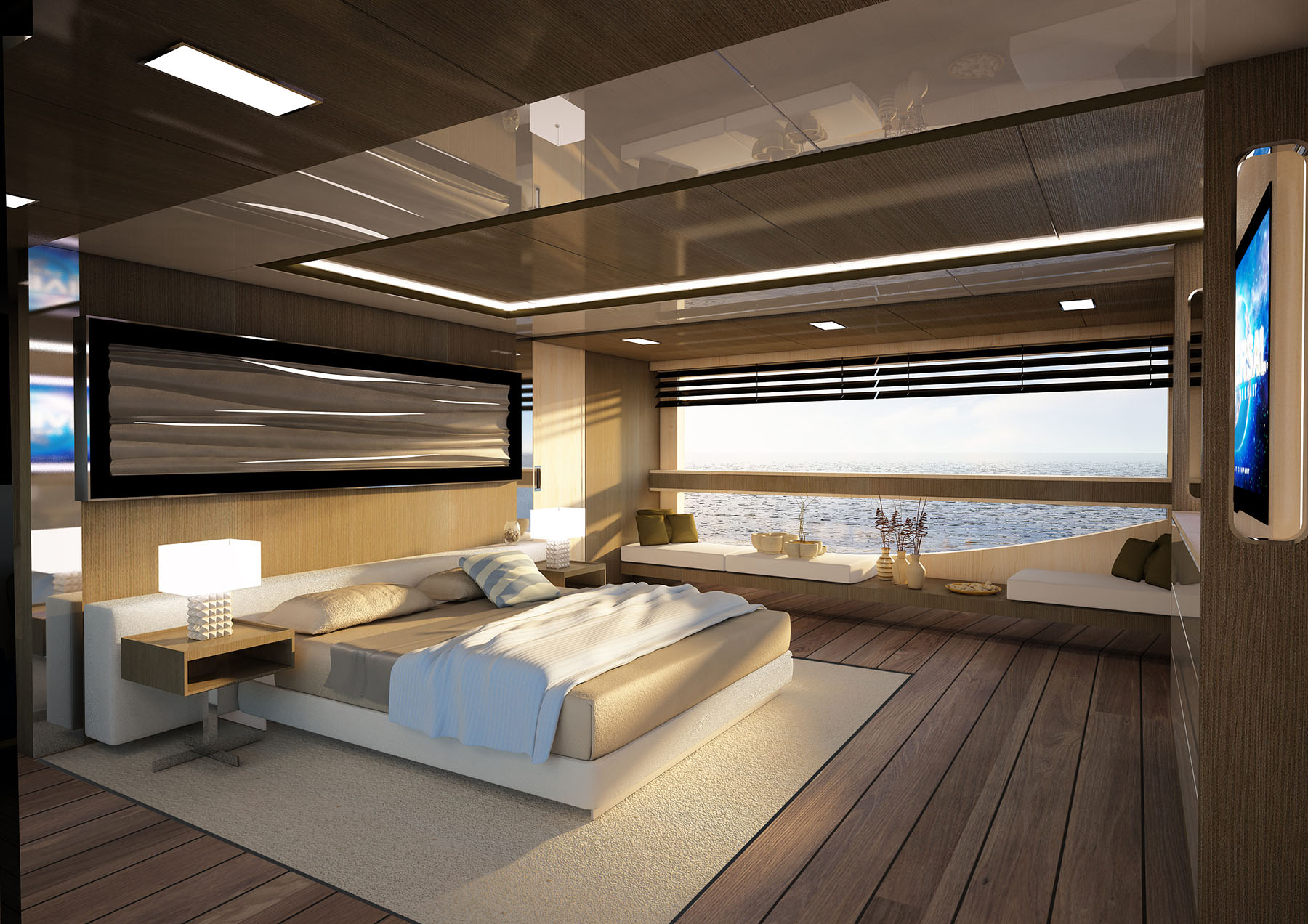 Master Cabin of M/Y OMBRA 37 Yacht for Sale