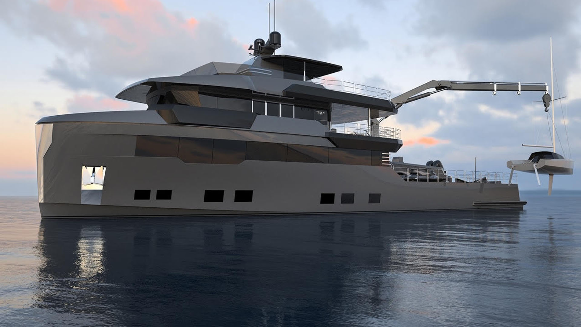 View of M/Y OMBRA 37 Yacht for Sale from the Water
