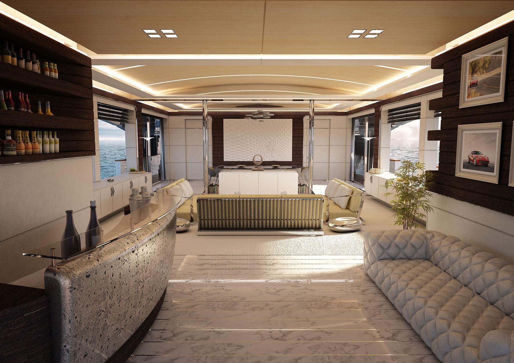 Saloon aboard M/Y OMBRA 37 yacht for sale