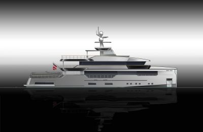 Profile View of M/Y PACIFICO 42 New Build Yacht for Sale