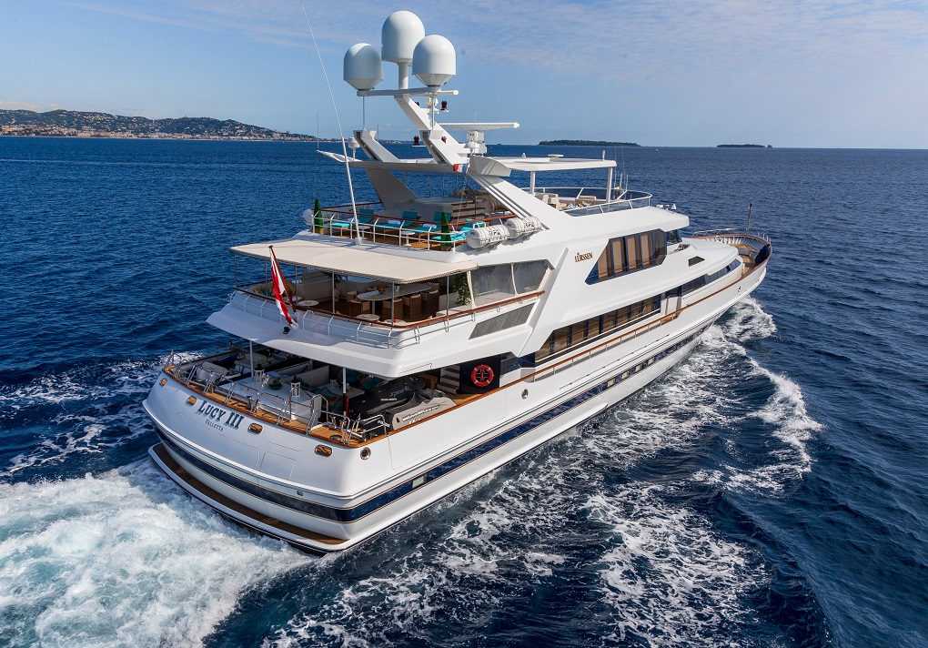 Stern View of M/Y Lucy III Yacht for Charter