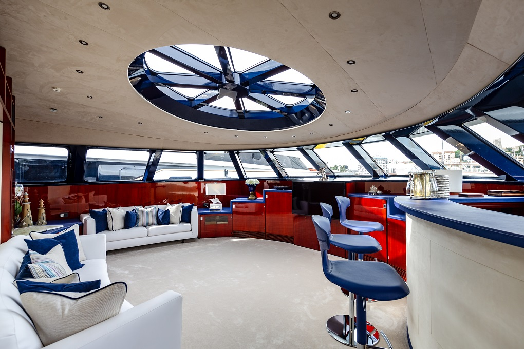 The Bridge Aboard M/Y Lucy III Yacht for Charter