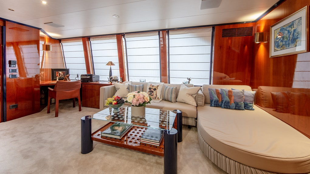 Seating Area on M/Y Lucy III Master Cabin