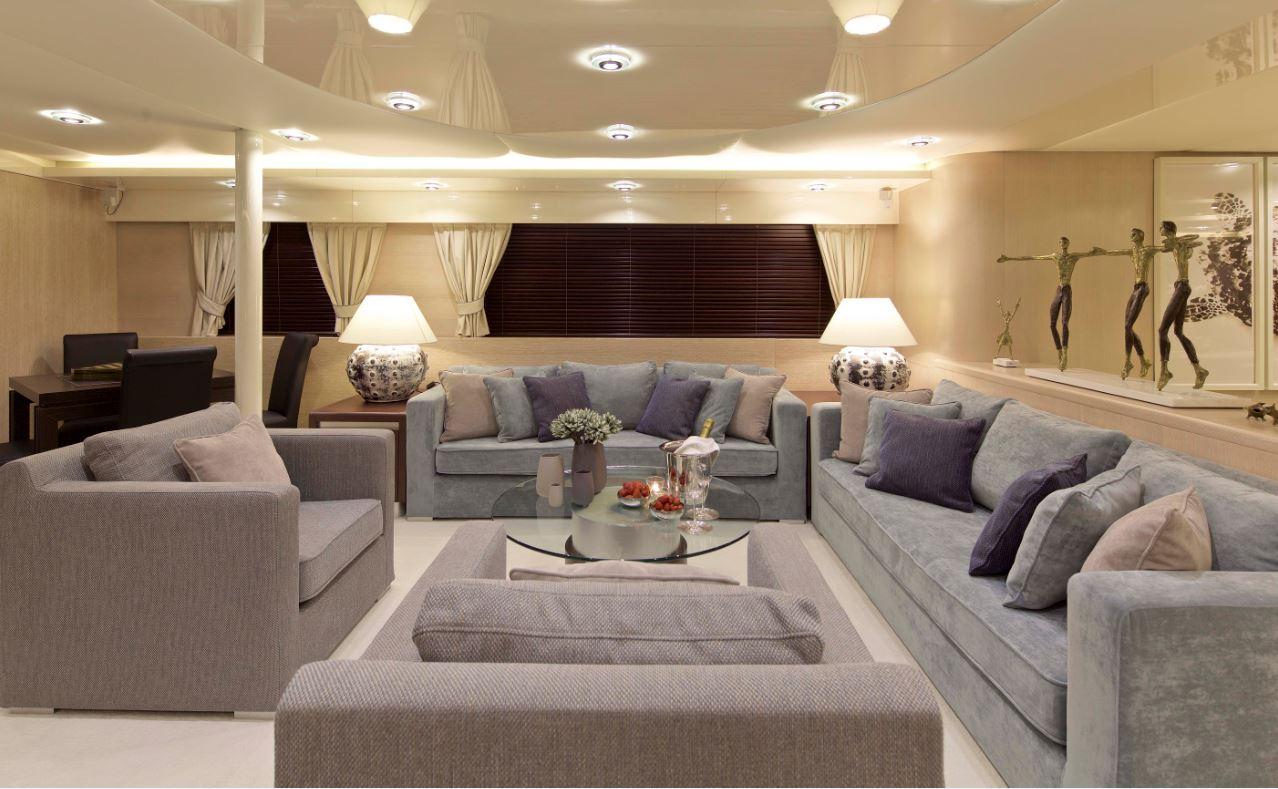 MY Magix Luxury Yacht Charter livingroom