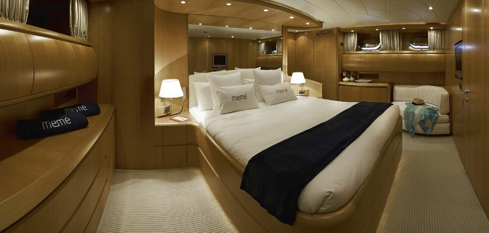 M/Y MEME yacht for charter master bedroom
