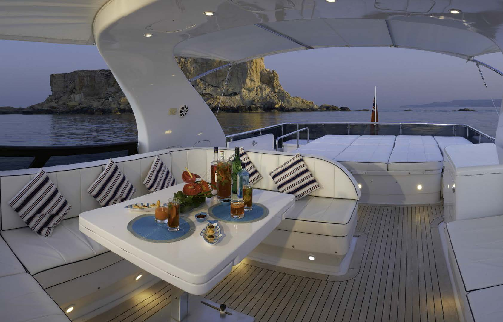 M/Y MEME yacht for charter lounge area on deck