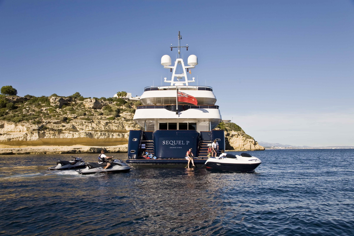M/Y SEQUEL P yacht for charter anchored