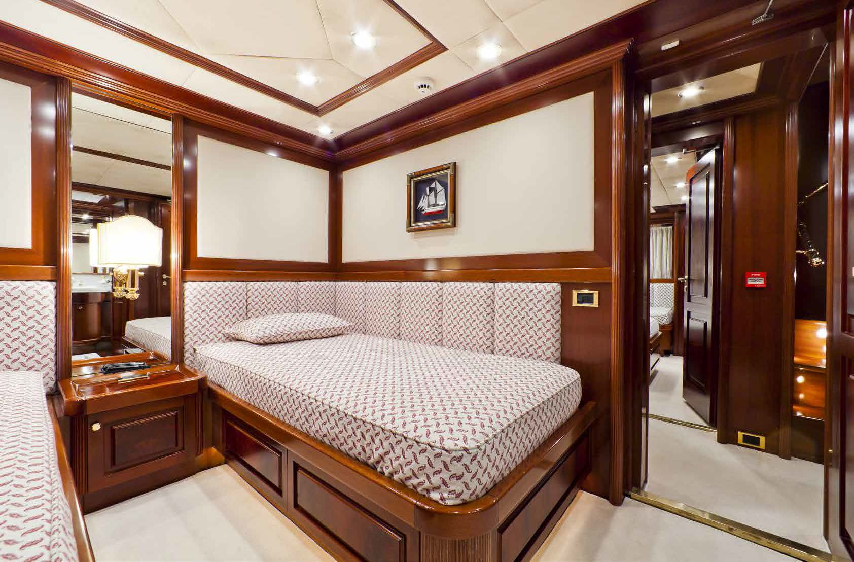 twin bedroom on a yacht for charter M/Y SOPHIE BLUE