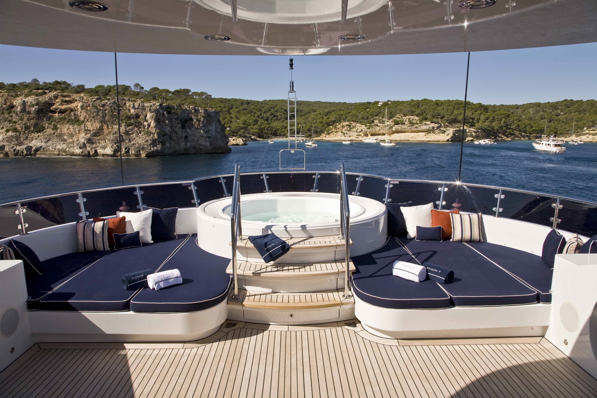 M/Y SEQUEL P yacht for charter deck