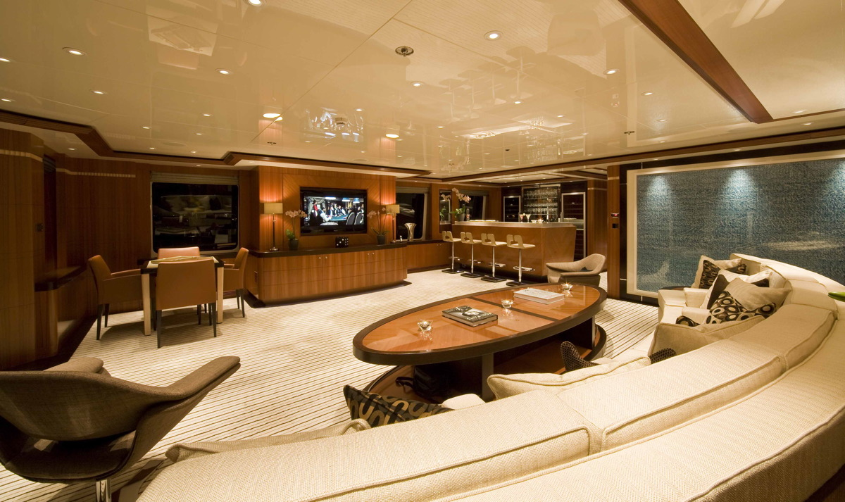 M/Y SEQUEL P yacht for charter upper saloon