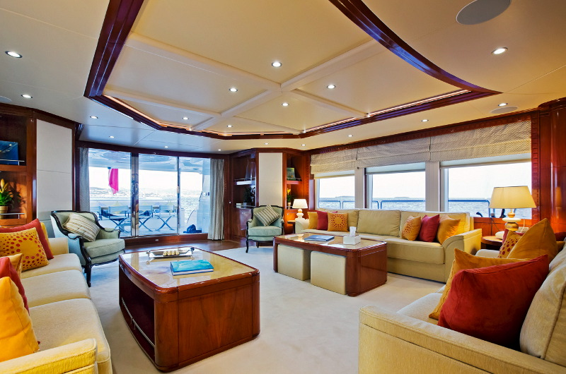 M/Y Marina Wonder luxury yacht charter lounge area