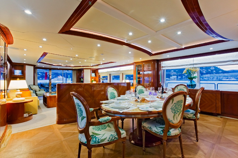 M/Y Marina Wonder luxury yacht charter dining area