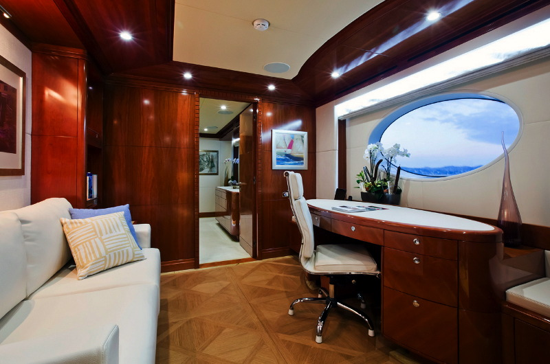 M/Y Marina Wonder luxury yacht charter office area