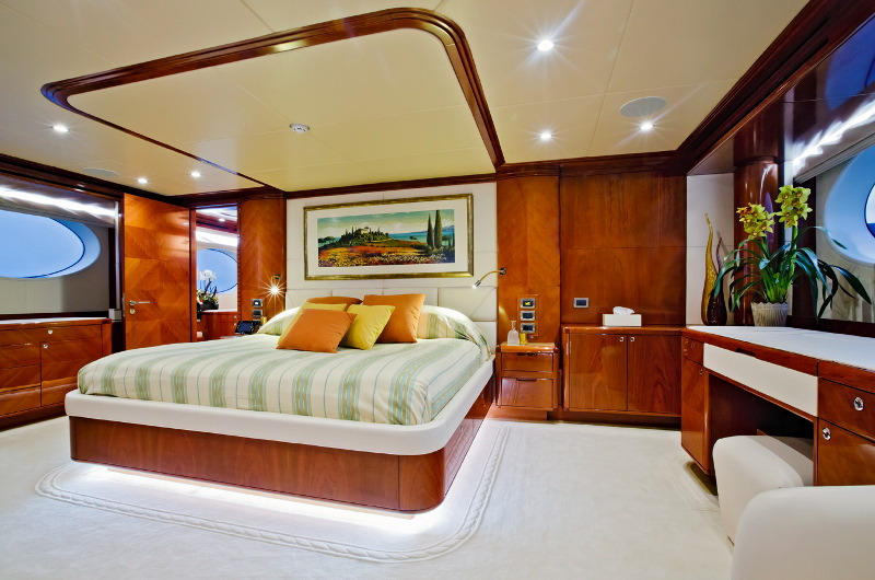 M/Y Marina Wonder luxury yacht for charter master bedroom