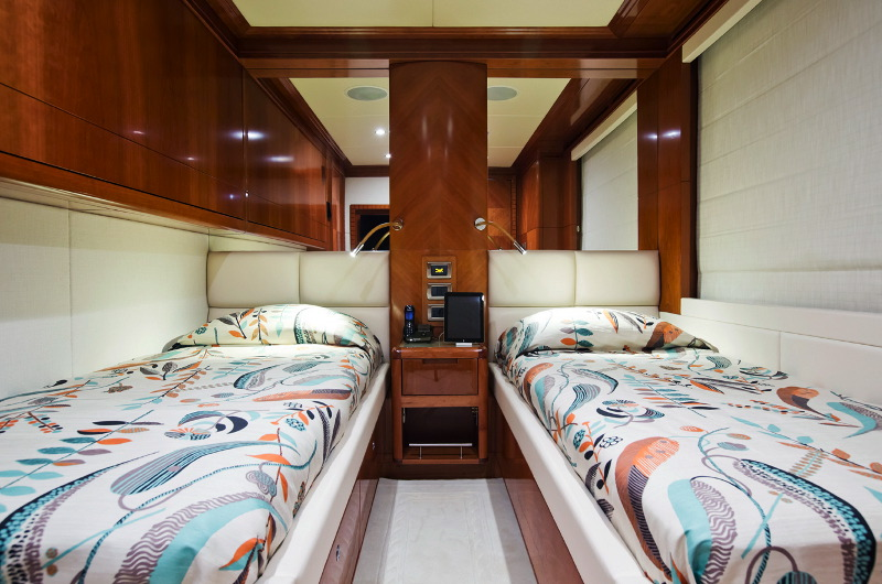 M/Y Marina wonder yacht for charter twin bedroom