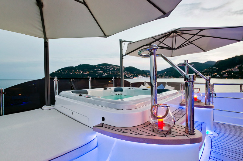 M/Y Marina Wonder luxury yacht for charter Jacuzzi on a deck