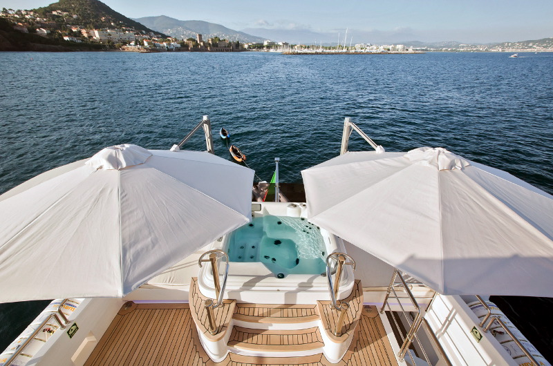 luxury yacht for charter m/y marina wonder deck jacuzzi