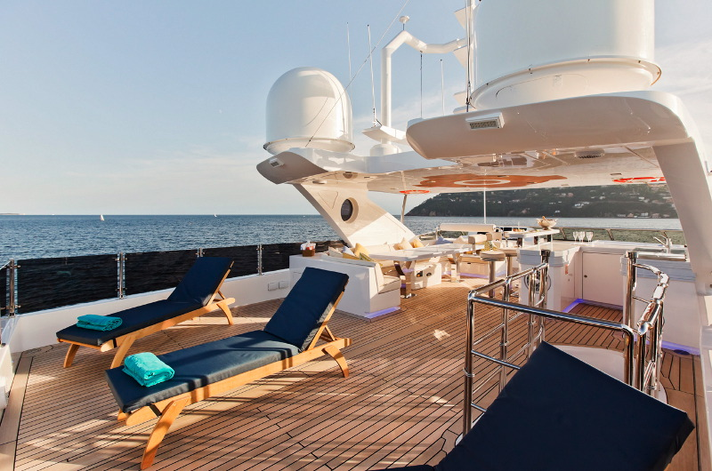 m/y marina wonder yacht for charter sun deck
