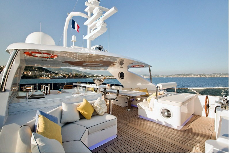 marina wonder motor yacht for charter sun deck