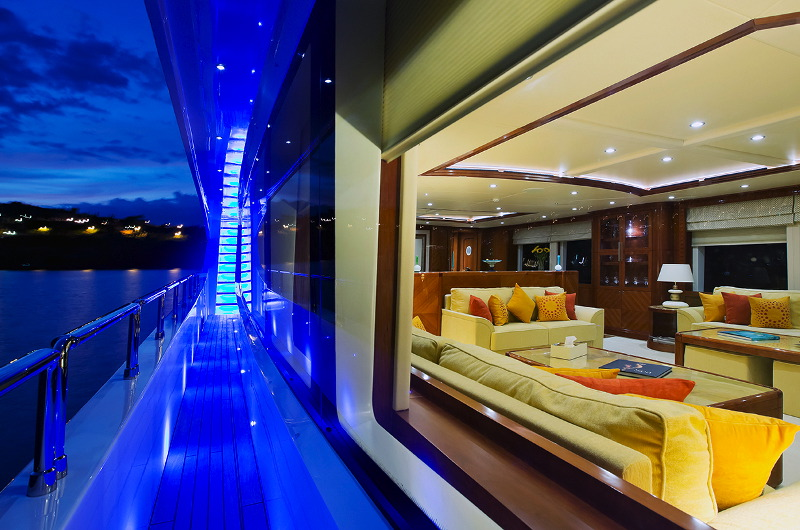 Marina Wonder luxury motor yacht charter deck